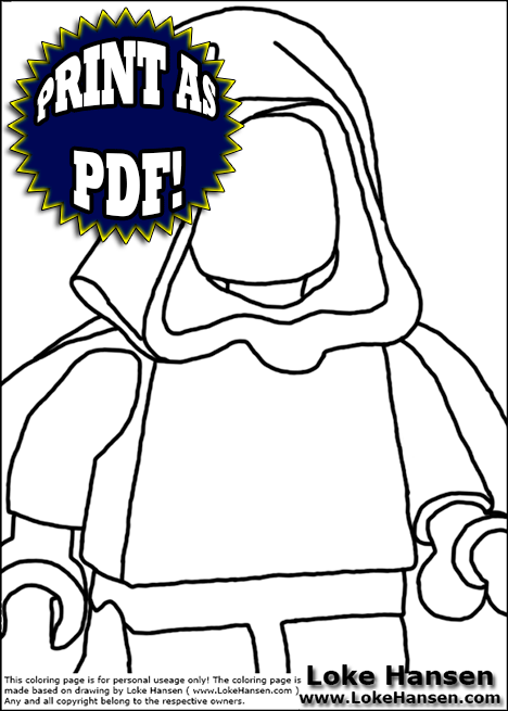 Preview of LEGO Start Wars Coloring Page for printing