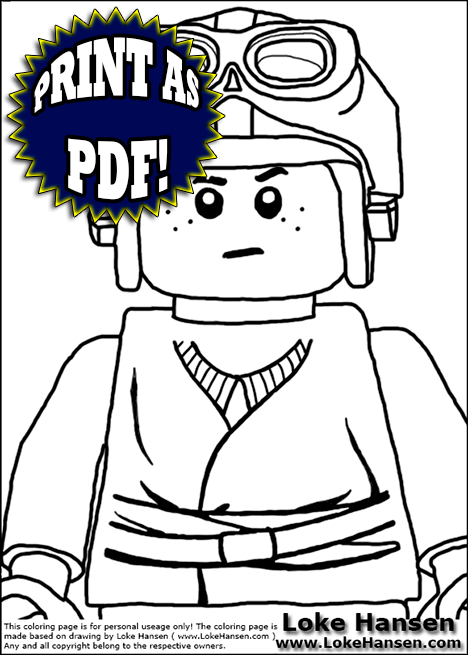 Free Coloring Pages Of Lego Yoda