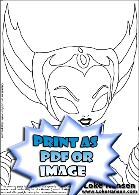Preview of SKYLANDERS Coloring Page for printing